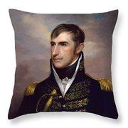 President William Henry Harrison Throw Pillow
