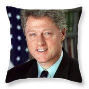 President William J. Clinton Throw Pillow