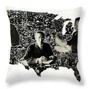 Presidential Map, C1912 Throw Pillow