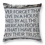 Presidential Message Throw Pillow