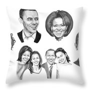 Presidential Throw Pillow by Murphy Elliott