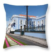 Presidential Palace - Azores Throw Pillow