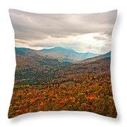 Presidential Range In Autumn Watercolor Throw Pillow