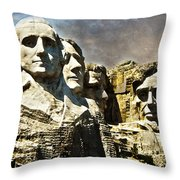 Presidential Rocks Throw Pillow