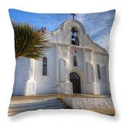 Presidio Chapel San Elizario Texas Throw Pillow