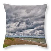 Presque Isle Beach 12061 Throw Pillow