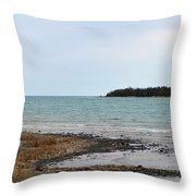 Presque Isle Harbor Throw Pillow