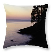 Presque Isle In Pastels Throw Pillow