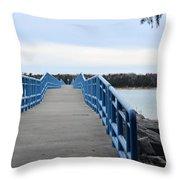 Presque Isle Pier Throw Pillow