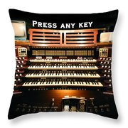 Press Any Key Throw Pillow