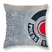 Press To Order Throw Pillow