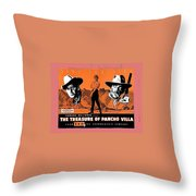 Pressbook The Treasure Of Pancho Villa 1955 Throw Pillow
