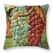 Pressed Grapes Throw Pillow