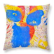 Pressed Paint Throw Pillow