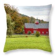 Prettiest Barn In Vermont Throw Pillow