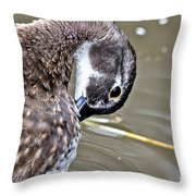 Prettily Preening Throw Pillow