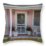 Pretty As Pink Throw Pillow