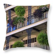 Pretty Balcony Throw Pillow