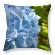 Pretty Blue Flower Throw Pillow