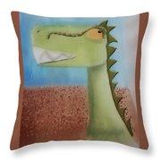 Dinoart Raptor Throw Pillow