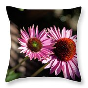 Pretty Flowers Throw Pillow by Joe Fernandez