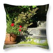 Pretty Gardens Throw Pillow