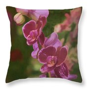 Pretty In Pink Water Color Effect Throw Pillow