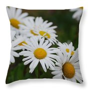Pretty In White Throw Pillow by Lorena Mahoney