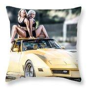 Pretty Ladies Throw Pillow