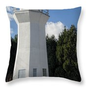Pretty Lighthouse In Decatur Alabama  Throw Pillow