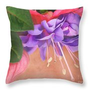 Pretty Little Fuchsia Throw Pillow