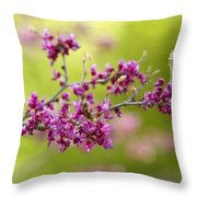 Pretty Little Pink Flowers  Throw Pillow