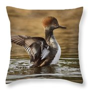 Pretty Little Redhead Throw Pillow