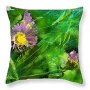 Pretty Little Weeds Photoart Throw Pillow