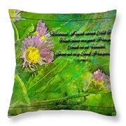 Pretty Little Weeds With Photoart And Verse Throw Pillow
