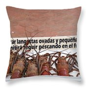 Pretty Lobsters Throw Pillow