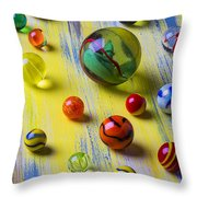 Pretty Marbles Throw Pillow