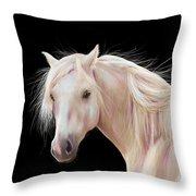 Pretty Palomino Pony Painting Throw Pillow