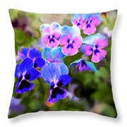 Pretty Pansies 2 Throw Pillow