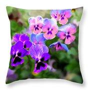 Pretty Pansies 4 Throw Pillow