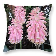 Pretty Pink Forest Lily Throw Pillow