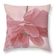 Pretty Pink Poppy Macro Throw Pillow