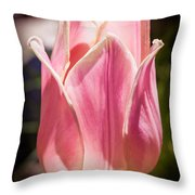 Pretty Pouting Pink Tulip Abstract Garden Art By Omaste Witkowsk Throw Pillow