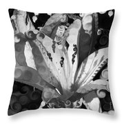 Pretty Pouting Pleasures A Black And White Painting Throw Pillow