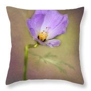 Pretty Purple Flower Throw Pillow