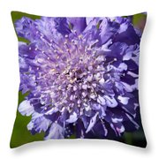 Pretty Purple Flower Throw Pillow