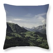 Pretty Sight Of The French Alps Throw Pillow