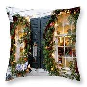 Pretty Store Windows Throw Pillow