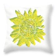 Pretty Sunflower  Throw Pillow by Lynn-Marie Gildersleeve