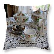 Pretty Tea Set Throw Pillow